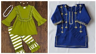 Baby Girls Kurtis Style Home-made Dresses Collection