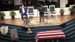 THP Col. Dereck Stewart speaks at Matthew Gatti's funeral services