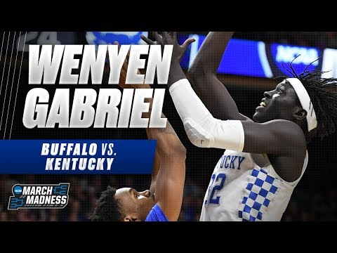 Kentucky\'s Wenyen Gabriel posts a double-double as Wildcats advance to the Sweet Sixteen