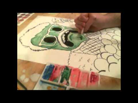 Pervin Irvin Livestream Watercolor Painting