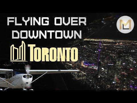 Toronto Night City Tour   C172 VFR X-Country Flight