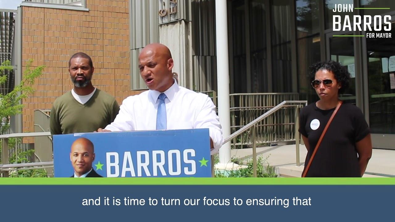 John Barros Plan for Quality Schools in Every Neighborhood