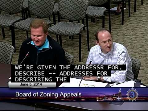 06/05/14 Board of Zoning Appeals Meeting