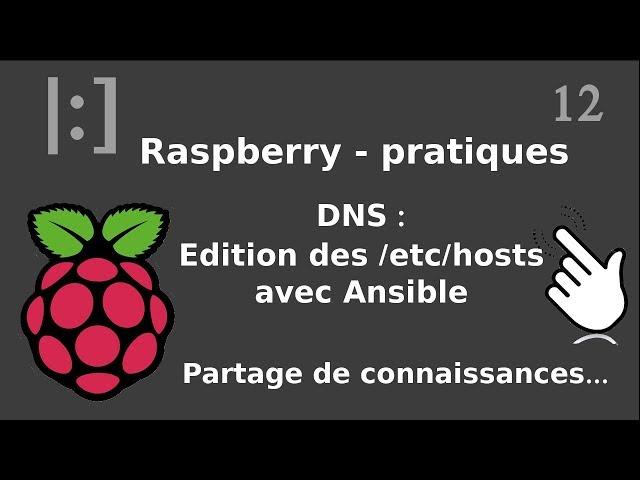 Raspberry Pi - 12. DNS : édition de /etc/hosts avec ansible