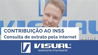 CNIS - EXTRATO DE CONTRIBUIÇÃO AO INSS PELA INTERNET | Visual Assessoria