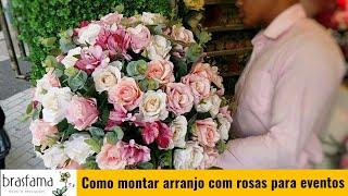 ARRANJO DE ROSAS ARTIFICIAIS PARA EVENTOS  Inscreva-se no canal e compartilhe...