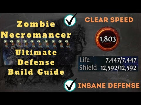 Path Of Exile [3.9] Ultimate Zombie Necromancer Build Guide, Easy Game!!