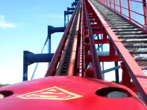 Superman ride at Six Flags in Maryland