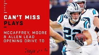 McCaffrey, Moore & Allen Lead Opening Drive TD