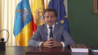 Matos expone la adaptación del Parlamento canario al COVID-19 en el parlamento italiano