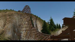 hillside tumbler rmc wooden coaster no limits 2