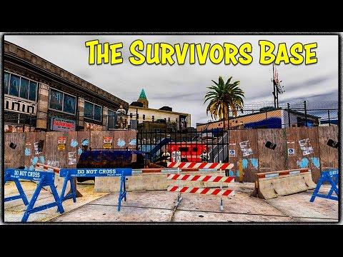 GTA 5 Zombie Apocalypse Ep. 4 - THE SURVIVORS BASE! (New Mod Showcase/Skit)