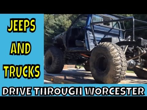 Jeeps and Trucks ~ A Drive through Worcester Massachusetts