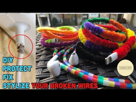 3 cool hacks to fix your charger / head phone cable I Turn it stylish | Fix and Protect for life |