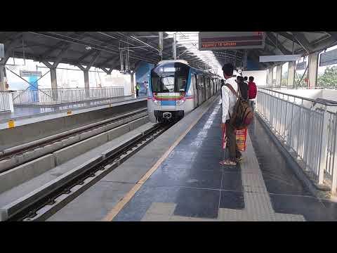 Hyderabad Metro Rail Arrives On Oliphant Bridge At Secunderabad Metro Station