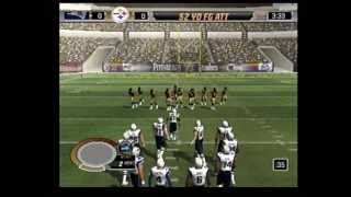 madden 06 ps2 gameplay pats vs steelers