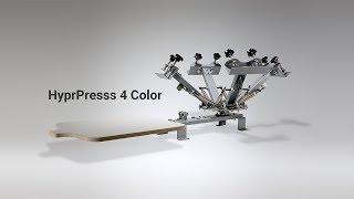 Siebdruckmaschine HyprPress 4 Color für mehrfarbige Siebdrucke