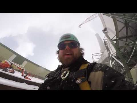 Welding in a winter wonderland, a badass pipe fitting video