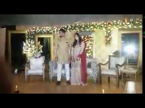 Cricketer Usman Salahuddin tie knots with Saba Arif