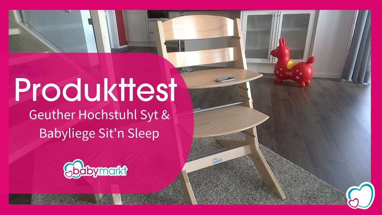 Geuther Hochstuhl Syt Babyliege Sitn Sleep Youtube