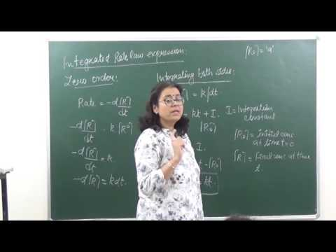 XII 4.3 Integrated rate law expression