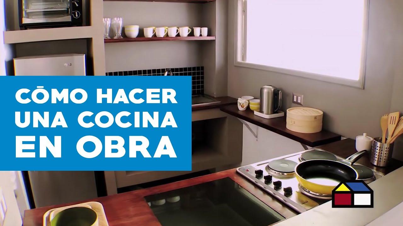 C mo hacer una cocina en obra youtube - Como hacer una chimenea de obra ...