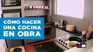 ¿Cómo hacer una cocina en obra?