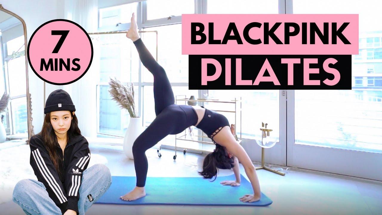 BLACKPINK INSPIRED PILATES WORKOUT!   Workout Like Jennie & Rosé   MishMe