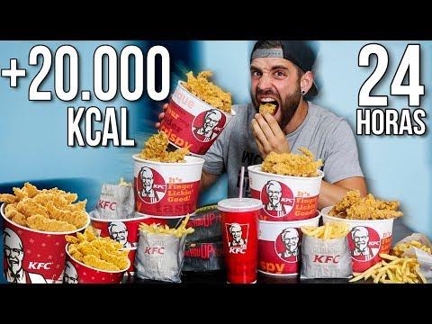 24 HORAS COMIENDO KFC | +20.000 KCAL EN UN DIA