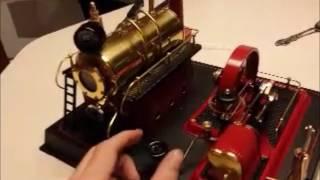 WILESCO D21 Live mini steam engine run