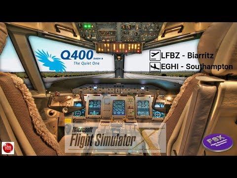 [FSX] [VATSIM] FlyBe Bombardier DASH 8 Q400 | LIBZ ✈ EGHI