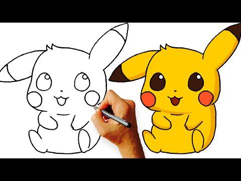 How to Draw Chibi Pikachu (Pokemon) Step by Step