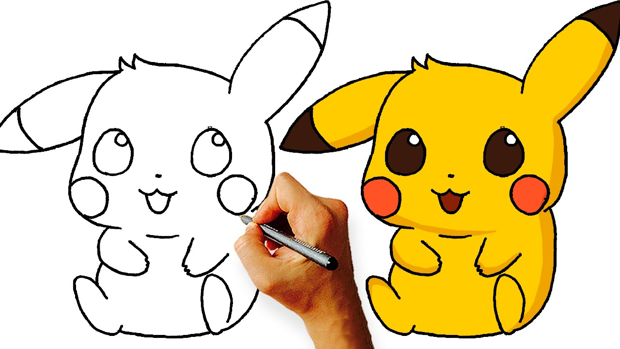 How to draw chibi pikachu pokemon step by step youtube