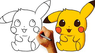 How to Draw Chibi Pikachu (Pokemon) Step by Step