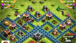 Clash of Clans Master League Raid 1 Million Resources, 4800 Dark Elixir
