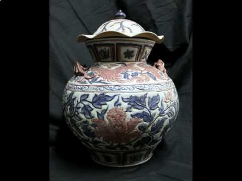 #9 Antique Chinese Porcelain Qing dynasty vase.avi