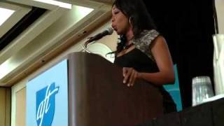 Tichina Arnold sings at the AFT PSRP Conference