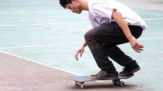 FIVE TRICKS w/ KAI NATTAPAT Dreg Skateboards, Thailand. Music : Nuj...
