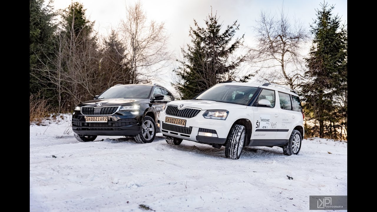 skoda karoq 1 5 tsi vs skoda yeti 1 4 tsi 2017 pl test carolewski youtube