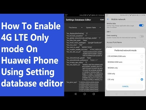 How To Enable 4G LTE Only mode On Huawei Phone Using Setting