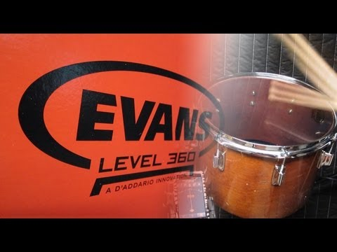 evans level 360 genera clear concert tom tuned to 5 musical notes youtube. Black Bedroom Furniture Sets. Home Design Ideas