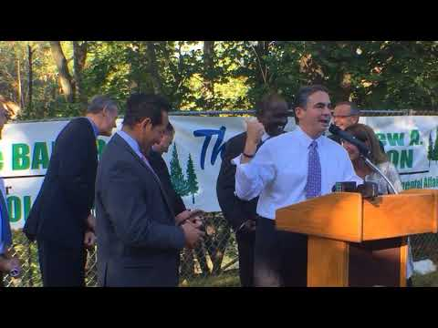 At $3 million Forest Park funding announcement, Rep. Angelo Puppolo's cellphone steals the show
