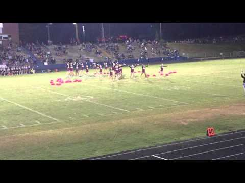 East Alexander Middle School cheerleaders half time routine. 10/13/2015 Apple Bowl game EAST vs WEST