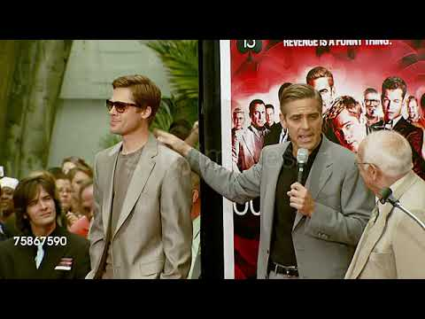 Download Brad Pitt and George Clooney about Ocean's Thirteen