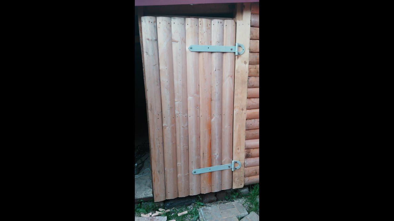 Как сделать дверь в сарай на даче своими руками