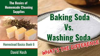 What is the Difference Between Baking and Washing Soda