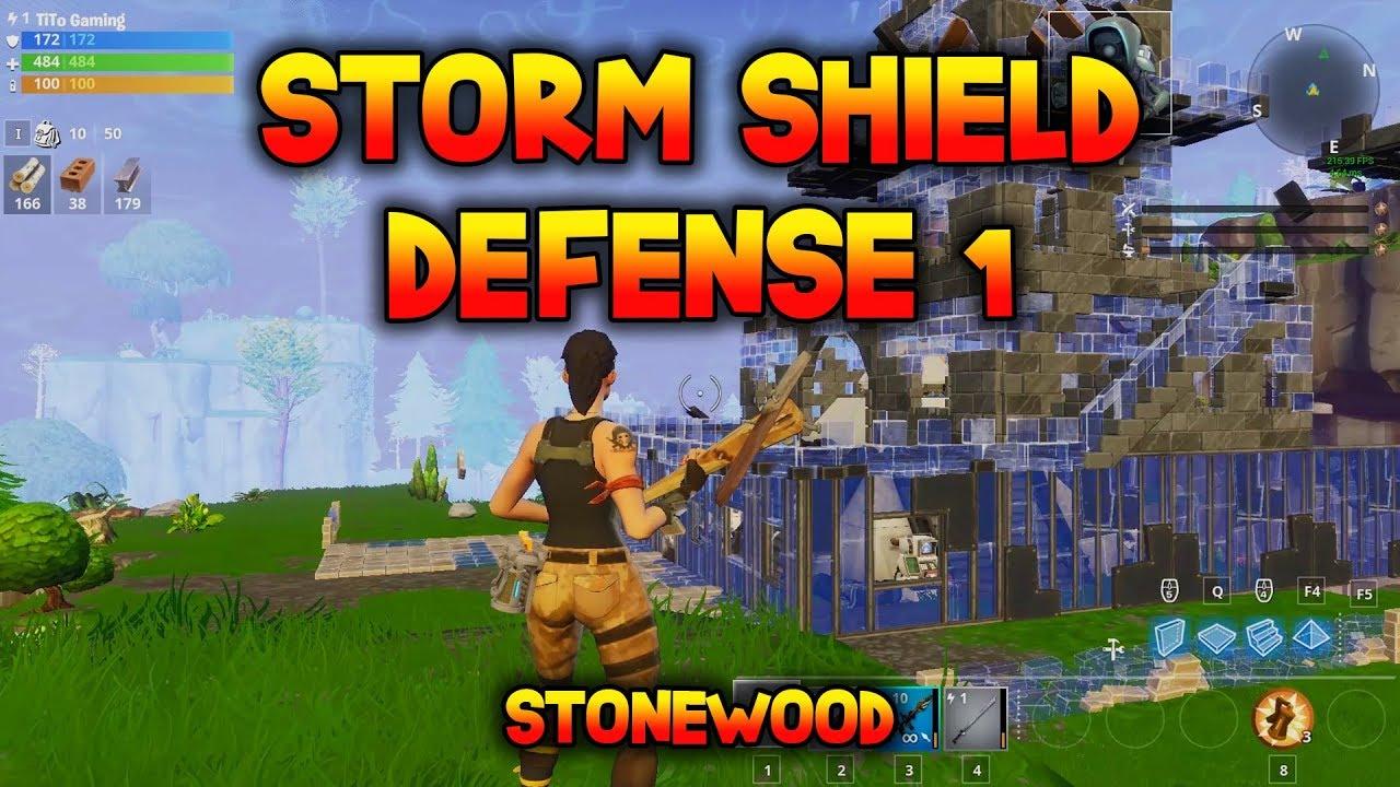 HOMEBASE STORM SHIELD DEFENSE 1 - Stonewood SSD1 - Fortnite Save the World