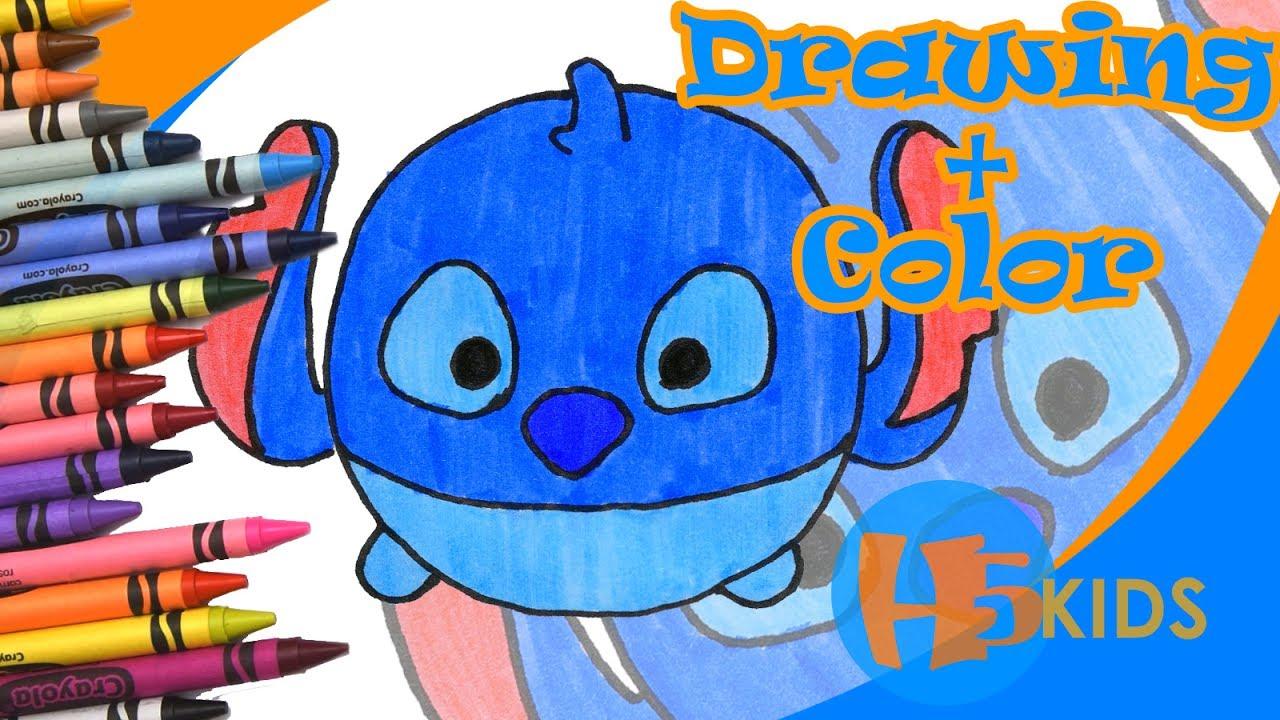 How To Draw Stitch Tsum Tsum