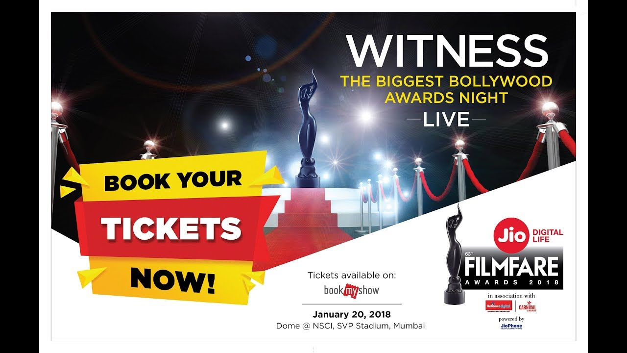 Jio Filmfare Awards 2018: Check out how to book tickets and