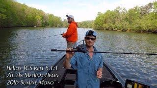EastTNFishing: Fluke Fishing with the Okuma Helios TCS and EVX Rod - Melton Hill Lake Spring 2017